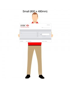 Small Promotional Bank Cheque  - 800mm x 480mm