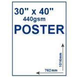 "30"" x 40"" 440gsm PVC Poster"