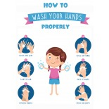 Wash Your Hands - A2 Poster or Sticker for Schools - Pack of 10