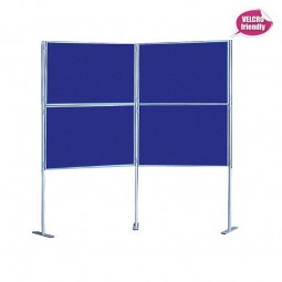 Quad Fabric Pole Display