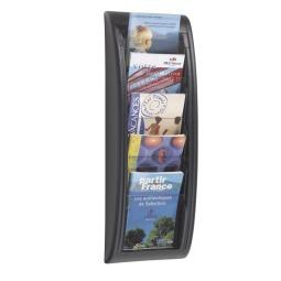 A5 Wall Mount Literature Rack - Black