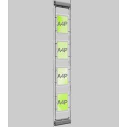 4xA4 Rotating LED Cable Window Display