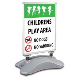 School A1 Windjammer Pavement Sign - Children's Play Area
