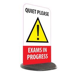 School Economy Pavement Sign - Quiet Please Exams in Progress