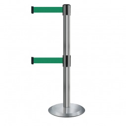 Retractable Belt Barrier Double Strap Safety Barrier