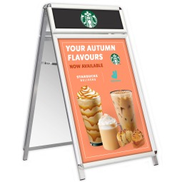 A1 A-Board Pavement Sign with Header