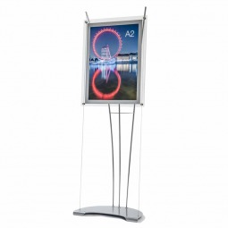 A2 cable poster display freestanding