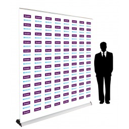 Step and repeat logo wall - Pull up banner stand