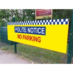 School Printed Banner - No Parking