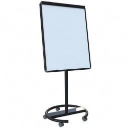 Black mobile whiteboard