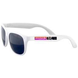 Custom Printed Sunglasses - White