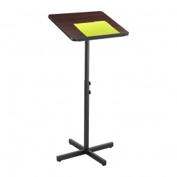 Cheap wood and steel lectern