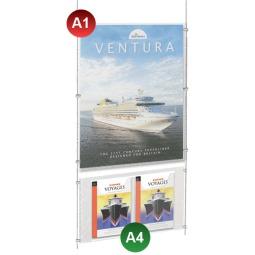 A1 Poster Pocket + 2x A4 Leaflet Holder Kit