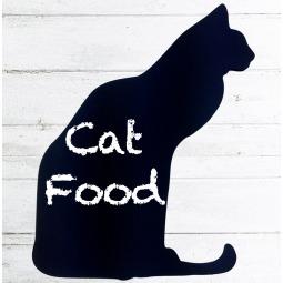 Cat shaped kitchen chalkboard