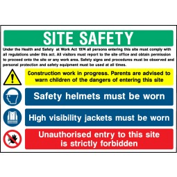Individual Site Safety Multi Message High Visibility Sign - Correx | Foamex | Dibond