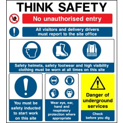 Individual Think Safety - No Unauthorised Entry Sign - Correx | Foamex | Dibond