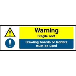 Pack of 6 Warning Fragile Roof - Correx   Foamex   Dibond   Vinyl