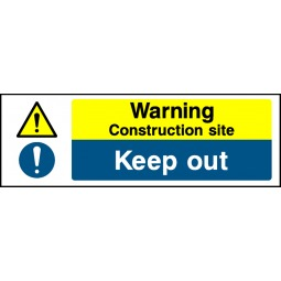 Pack of 6 Warning Construction Site Keep Out - Correx   Foamex   Dibond   Vinyl