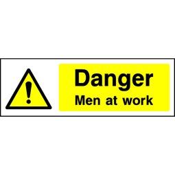 Pack of 6 Danger Men At Work - Correx   Foamex   Dibond   Vinyl