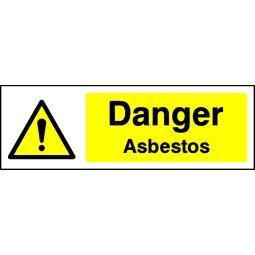 Pack of 6 Danger Asbestos - Correx   Foamex   Dibond   Vinyl