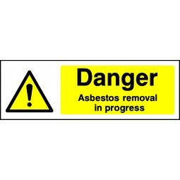 Pack of 6 Danger Asbestos Removal - Correx   Foamex   Dibond   Vinyl