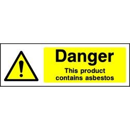 Pack of 6 Danger Product Contains Asbestos - Correx   Foamex   Dibond   Vinyl