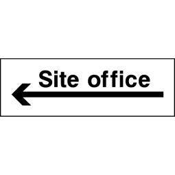 Pack of 6 Site Office Left Arrow - Correx   Foamex   Dibond   Vinyl