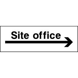 Pack of 6 Site Office Right Arrow - Correx   Foamex   Dibond   Vinyl