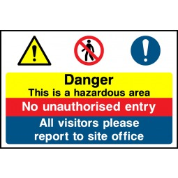 Building Site Safety Sign