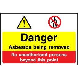 Individual Danger Asbestos Being Removed Sign - Correx | Foamex | Dibond