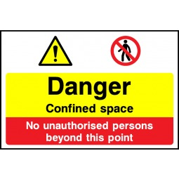 Individual Danger Confined Space Sign - Correx | Foamex | Dibond