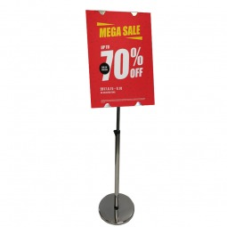 Stainless Steel Sign Holder with Printed Sign