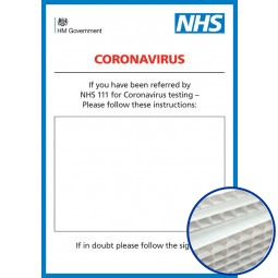 Printed Correx Signs - Pack of 10 - Coronavirus Design 3