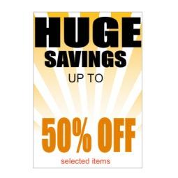 Huge Savings - Poster 133