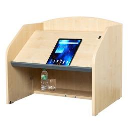 Folding desktop lectern