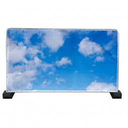 Cloudy Sky Heras Fence Banner