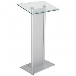 Tempered Glass Podium with Front Panel