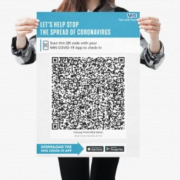 NHS COVID QR Code Sign or Sticker