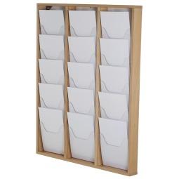 Wooden Wall Mounted Brochure Rack