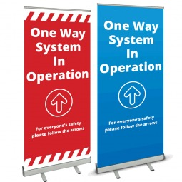 One Way System Banner Stand