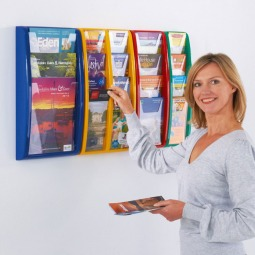 Colour Wall Mounted Leaflet Display
