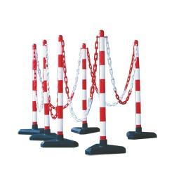 Plastic Chain Barrier - Concrete Base kit 6 posts 10m chain