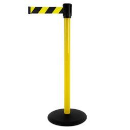 Yellow / Black Chevron Webbing - Yellow Post
