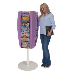 Freestanding literature dispenser