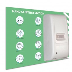 Automatic Wall Mounted Dispenser with Printed Backboard