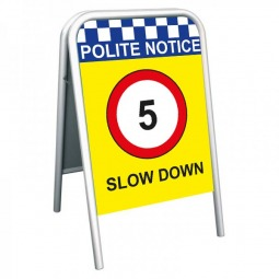 School Pavement Sign - Slow Down 5mph