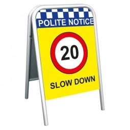 School Pavement Sign - Slow Down 20mph