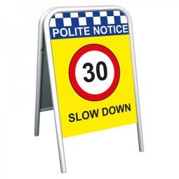 School Pavement Sign - Slow Down 30mph
