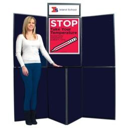 7 Panel Display Board - COVID-19 Temperature Check