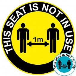 This Seat Is Not In Use - Social Distancing Floor Stickers - Pack of 6